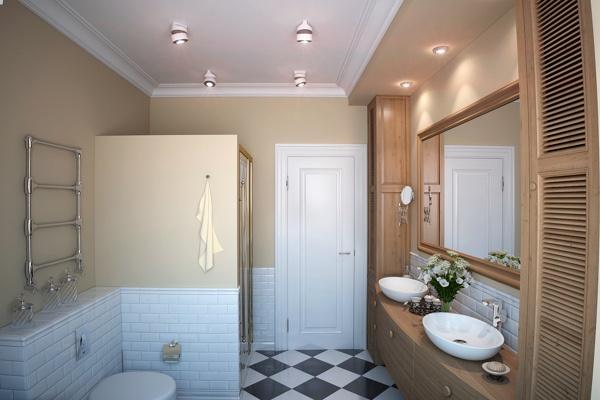 Ванная комната дизайн свет смеситель для ванной с душем польша купить