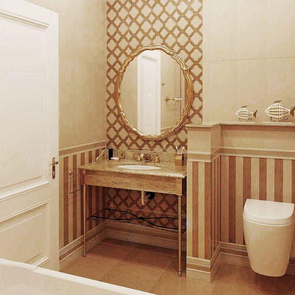 Подключение водных коммуникаций к туалетному столику в ванной
