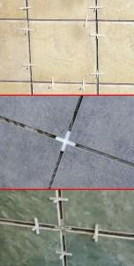 Варианты установки крестиков при поклейке плитки
