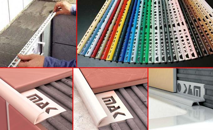 Монтаж декоративного уголка для керамической плитки