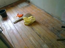 Подготовка деревянной поверхности пола