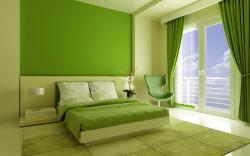 комната с покрашенными стенами