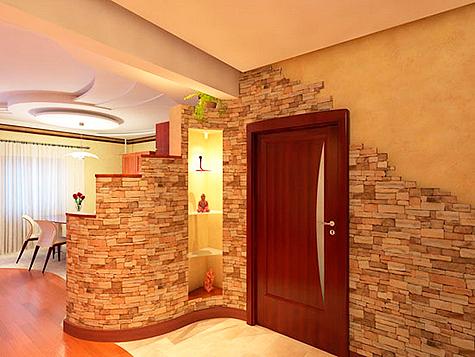 Дизайн квартиры с декоративным камнем