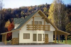 панельно-каркасный дом