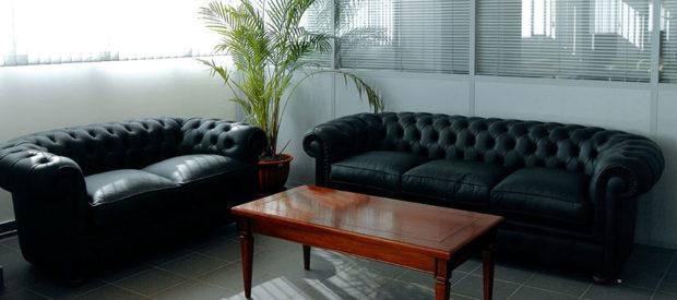 Офисные диваны чёрного цвета
