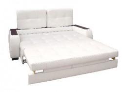 Кожаный диван с выкатным механизмом трансформации