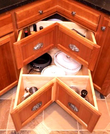 Угловые шкафчики на кухню