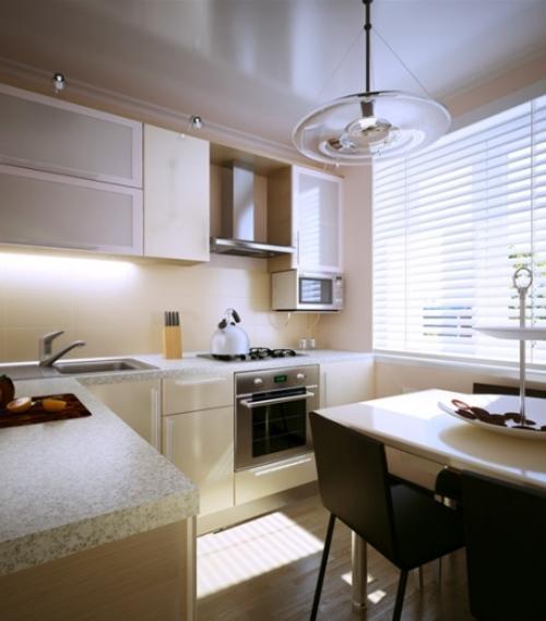 Окно на маленькой кухне дизайн фото