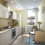 светлый цвет для маленькой кухни