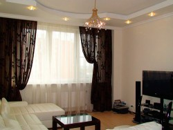 гардины и портьеры в гостиной