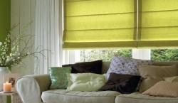 зеленые римские шторы