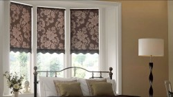 римские шторы с декором