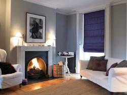 фиолетовые римские шторы