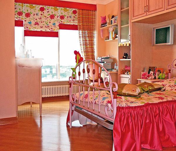 австрийские шторы в детскую