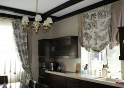 длина штор для кухни