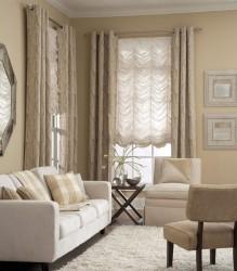 французские шторы в гостиной