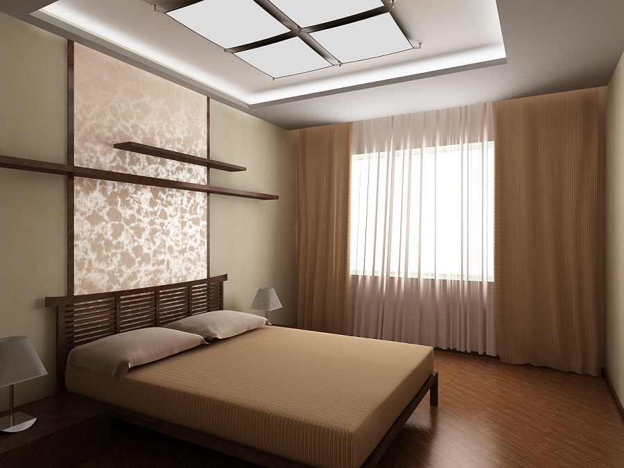 Шторы для узкой спальни