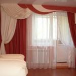 шторы с ламбрекеном в гостиной