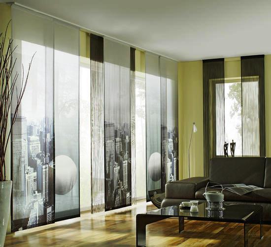 Японская штора в интерьере фото