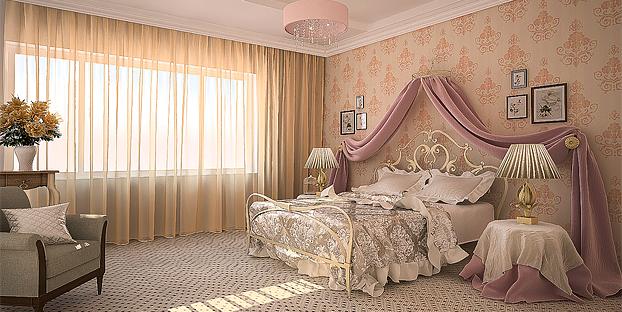 занавес для спальни