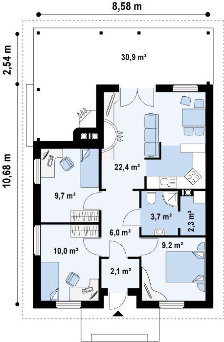 Лучшие проекты одноэтажных домов и коттеджей