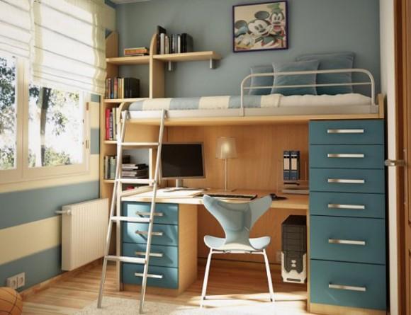 дизайн маленькой спальни два уровня
