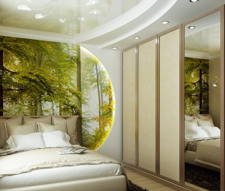 дизайн маленькой спальни фотообои 2
