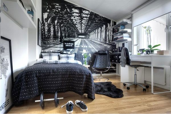 дизайн маленькой спальни фотообои