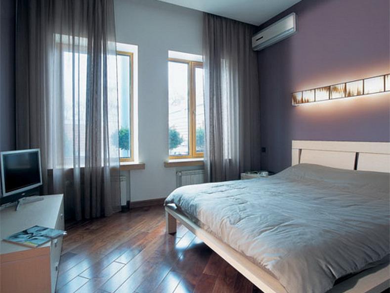 дизайн маленькой спальни ламинат по диагонали