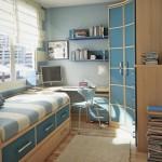 дизайн маленькой спальни мебель 3
