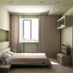 дизайн маленькой спальни минимум мебели 2