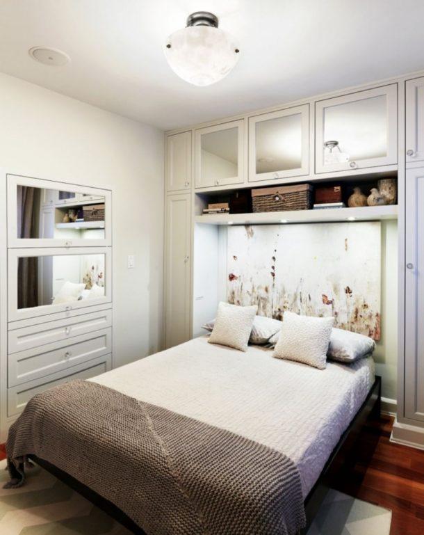 дизайн маленькой спальни освещение 2