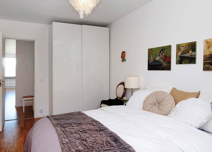 дизайн маленькой спальни светлые оттенки 2