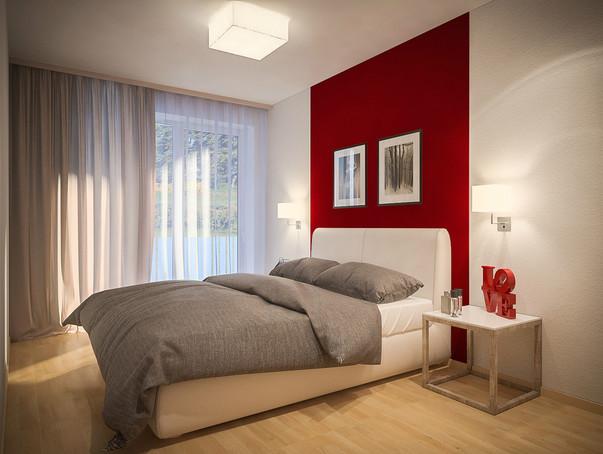 дизайн маленькой спальниконтраст