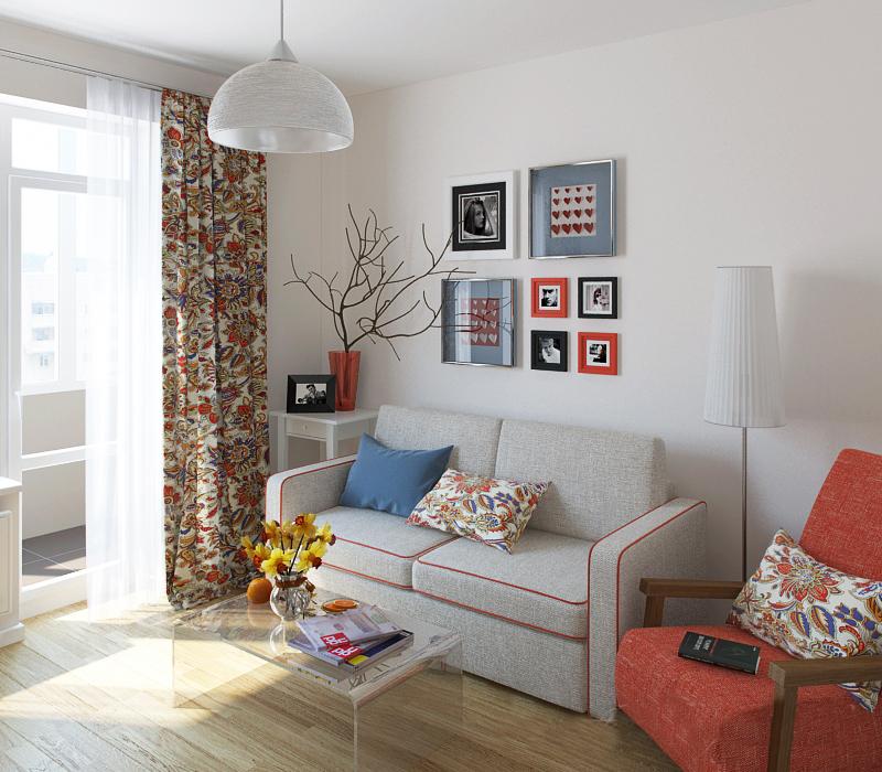 маленькая гостиная мебель 4