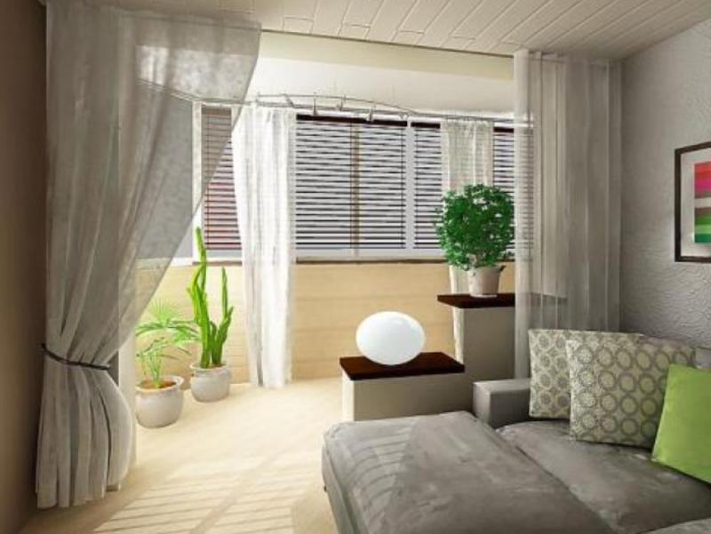 Дизайн гостиной с лоджией фото