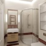 маленькая ванная комната душевая кабина 4