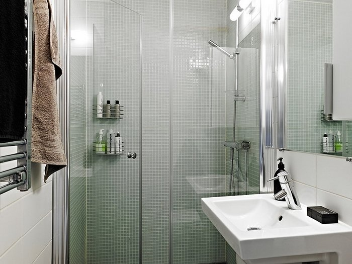 маленькая ванная комната мелкая плитка