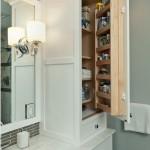 маленкая ванная комната места хранения