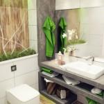 маленькая ванная комната месте хранения
