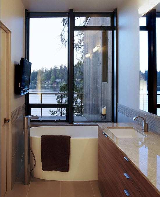 маленькая ванная комната минимализм