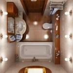маленькая ванная комната освещение