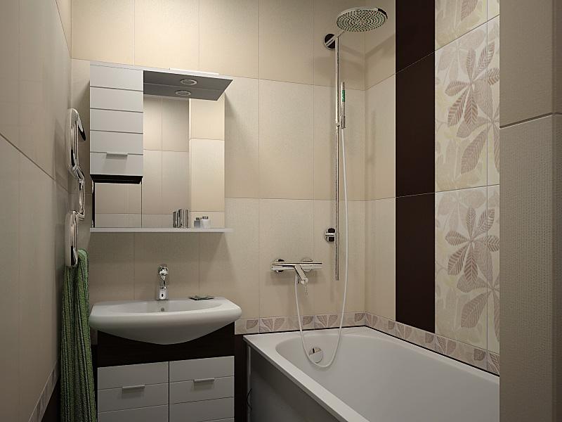 маленькая ванная комната отделка 2