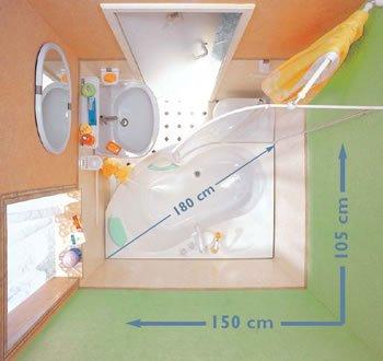 маленькая ванная комната планировка 2