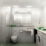 маленькая ванная комната подвесная сантехника 2