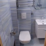 маленькая ванная комната подвесная сантехника 3
