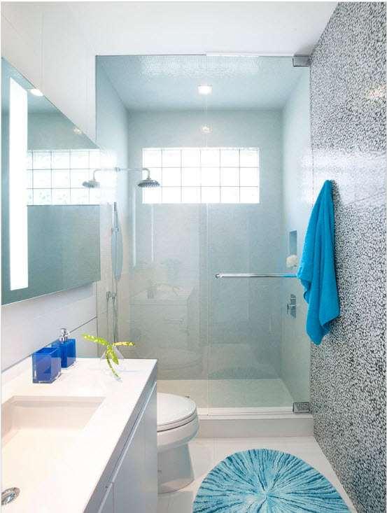 маленькая ванная комната прозрачные шторки 2