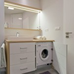 маленкая ванная комната прячем стиральную машину