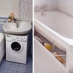 маленькая ванная комната стиральная машина 2