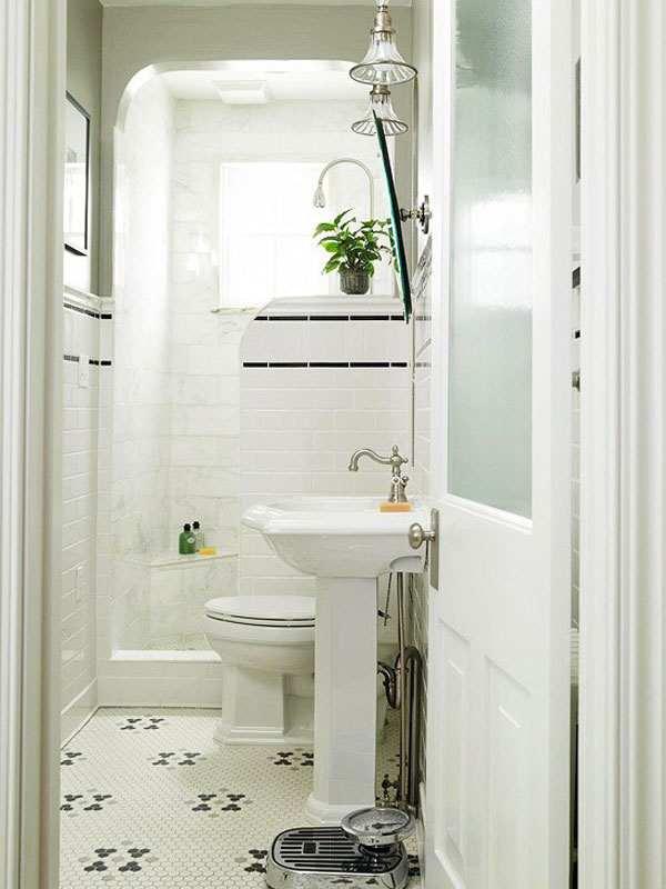 маленкая ванная комната светлые тона